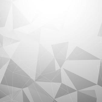 Grauer polygonhintergrund