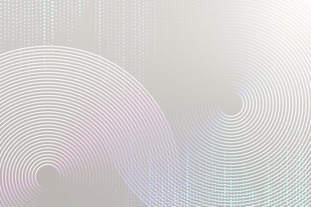 Grauer technologiehintergrund des geometrischen musters mit kreisen