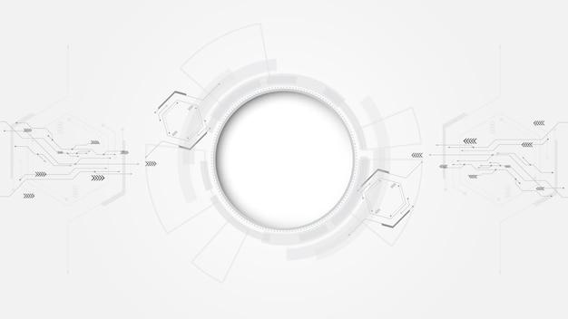 Grauer weißer abstrakter technologiehintergrund