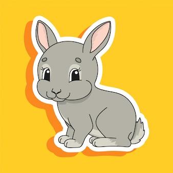 Graues kaninchen.