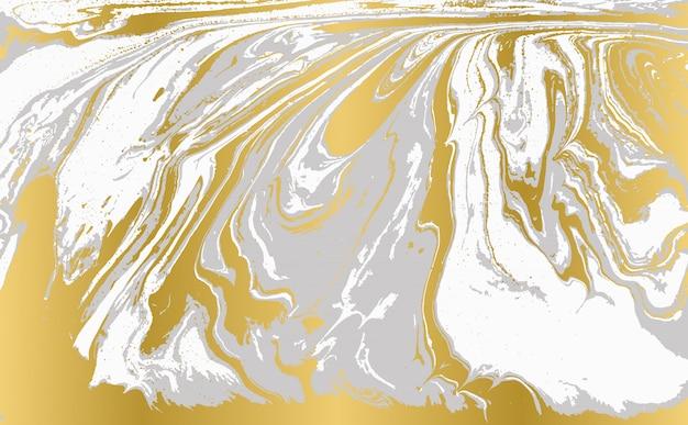 Graues und goldenes achat-wellenmuster. blasser schöner marmorhintergrund.