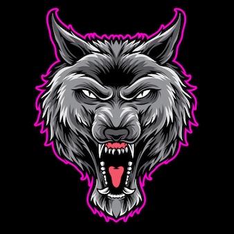 Graues wolf-logo