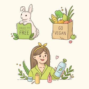 Grausamkeitsfreies und veganes elementset