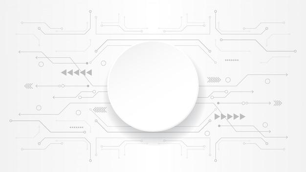 Grauweiß abstrakte technologie