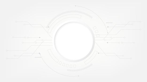 Grauweiß abstrakter technologiehintergrund, hi-tech-digitalverbindung, kommunikation, hochtechnologie
