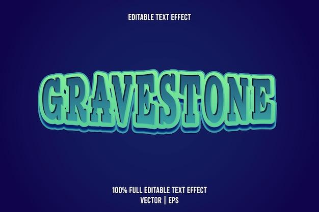 Gravestone editierbarer texteffekt 3-dimensionaler emboss-cartoon-stil