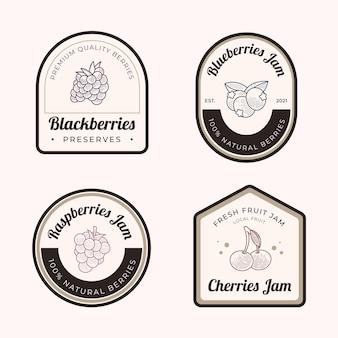 Gravieren von handgezeichneten marmeladenabzeichen