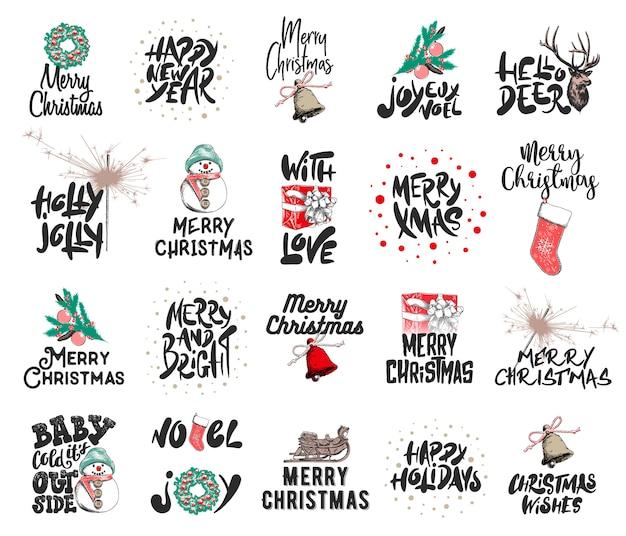 Gravierte illustrationen mit typografie, beschriftung