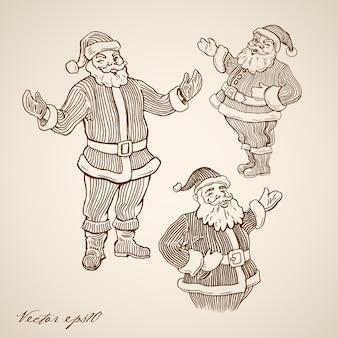 Gravierte weihnachtsillustration