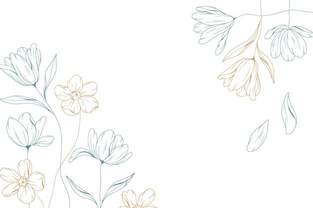 Gravur floraler hintergrund