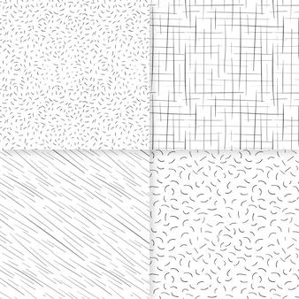 Gravur handgezeichnete mustersammlung