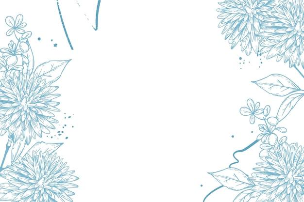 Gravur handgezeichneter blumenhintergrund