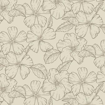Gravur handgezeichnetes botanisches muster