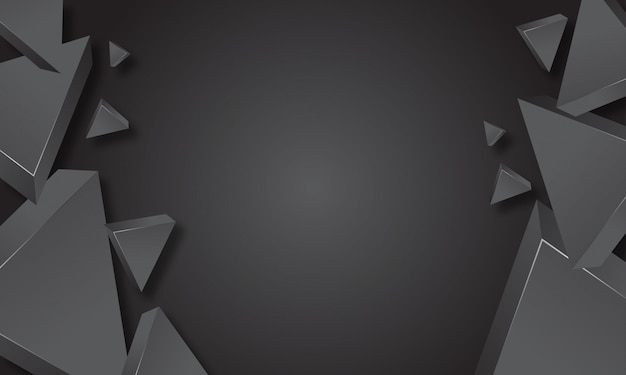 Gray triangle abstract background
