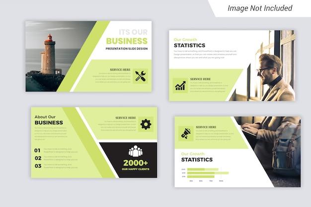Green & black business präsentationsfolien mit foto