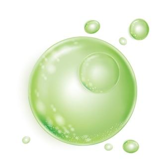 Green bubbles wasseressenz