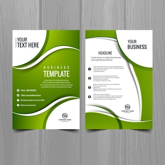 Green business-broschüre