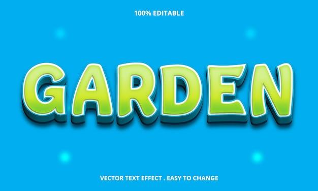 Green garden bearbeitbarer texteffekt