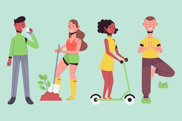 Green lifestyle menschen
