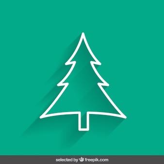 Green übersichts weihnachtsbaum