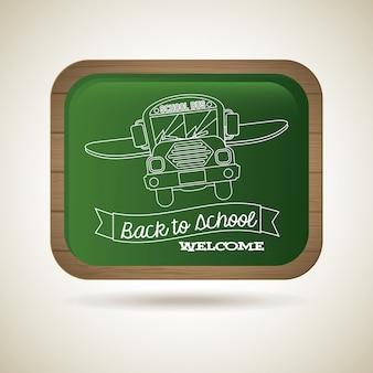 Greenboard zurück in die schule
