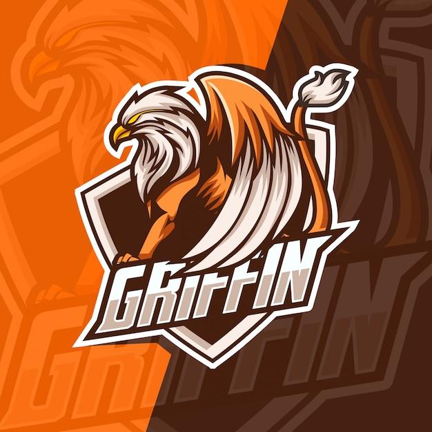 Greif maskottchen esport-logo