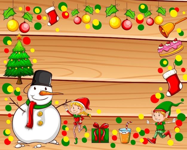 Grenze mit weihnachtsthema