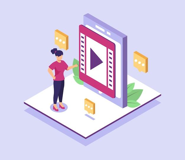 Grenzenlose kommunikation macht es einfach, mit einem einzigen mobiltelefon oder computer in verbindung zu bleiben und videos auf der ganzen welt anzusehen.