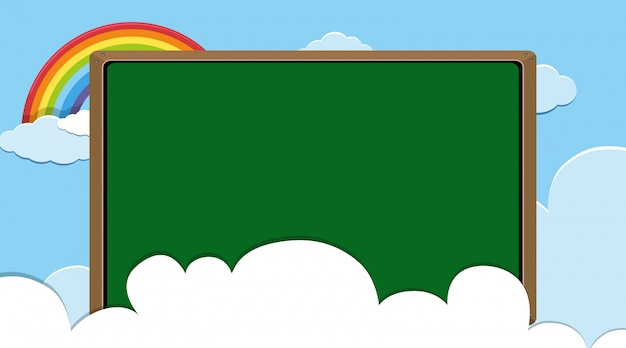 Grenzschablone mit blauem himmel