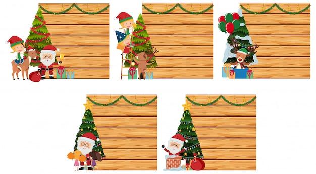Grenzschablone mit weihnachtsthema
