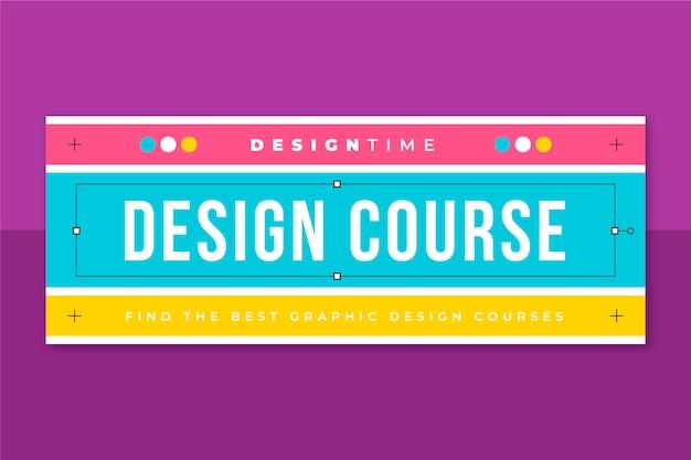 Grid design facebook cover