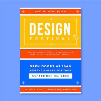 Grid design festival poster