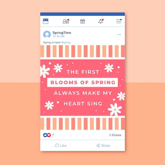 Grid spring facebook post vorlage