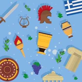 Griechenland symbole muster