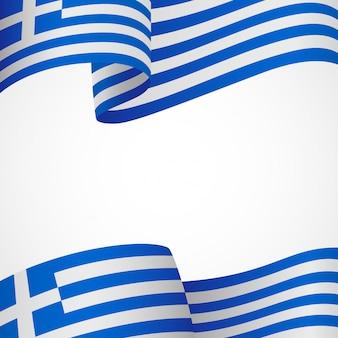Griechische flagge auf weiß