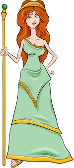 Griechische göttin hera cartoon