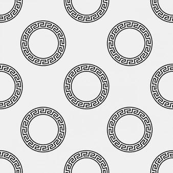Griechische kreis ornament-muster