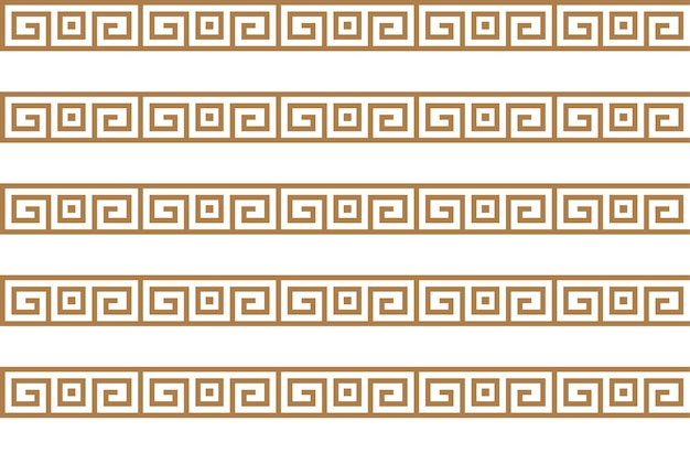Griechische schlüsselmotive nahtlose textur oder hintergrund arabische geometrische textur islamische kunst