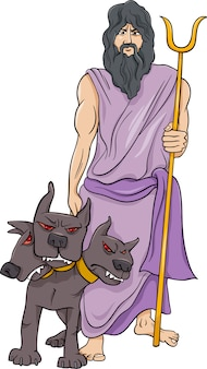 Griechischer gott hades cartoon illustration