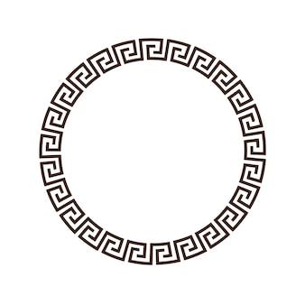 Griechischer runder dekorativer rahmen für design