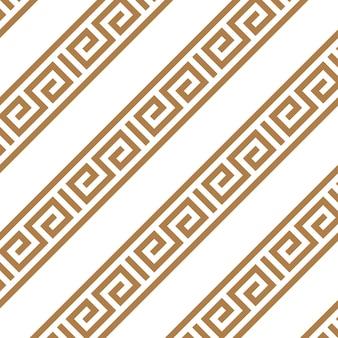 Griechischer schlüssel. typische ägyptische, assyrische und griechische motive textur. vektor und abbildung.