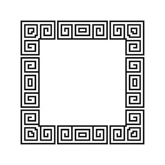 Griechischer schlüsselrahmen abstrakter geometrischer vektor