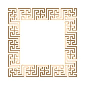 Griechischer schlüsselrahmen typisch ägyptische und griechische motive arabische geometrische textur islamische kunst