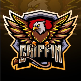 Griffin esport maskottchen logo design