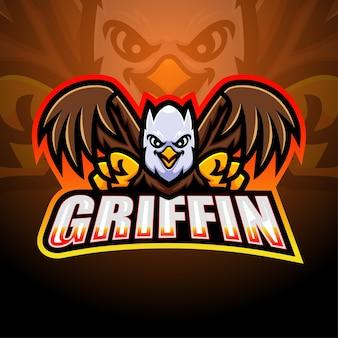 Griffin maskottchen esport illustration