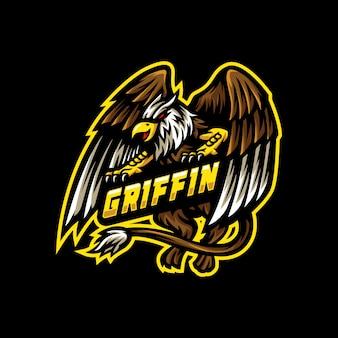 Griffin maskottchen logo esport gaming