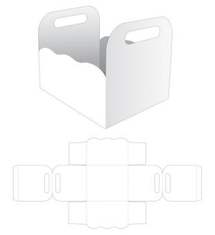 Griffschale mit stanzschablone mit gebogenem rand