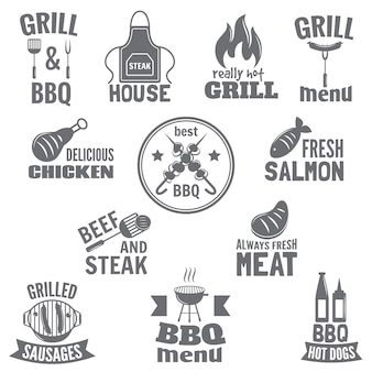 Grill etikett