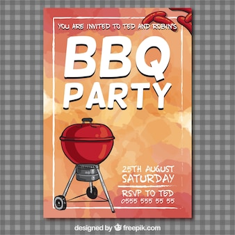 Grill-party-flyer