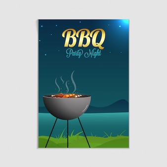 Grill-poster, flyer, vorlage oder einladung design.